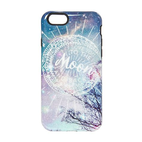 Casing Iphone 6 6s Cover Loving i you to the moon back glitter phone iphone 6 6s shopping claires