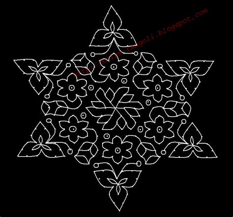 new design flower kolam with dots january 2013 entertainment
