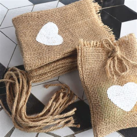 Wrapping Karung Goni 8 pcs a lot wedding supply bag linen gift