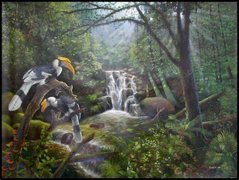 Lukisan Paintings Nature the forgotten land lukisan burung dan pemandangan hutan early work artists collection