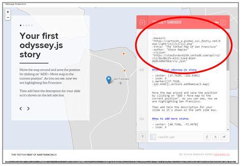 github markup tutorial github mapninja cartodb odyssey tutorial for story maps