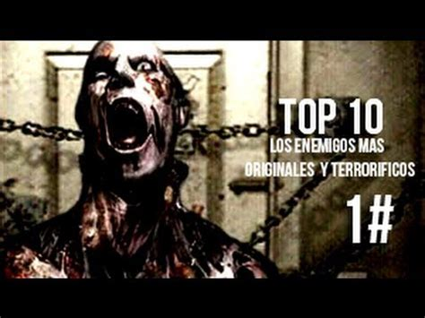 top 10 | enemigos mas escalofriantes y originales de los