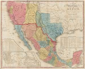 a map of the united states of mexico as organized and