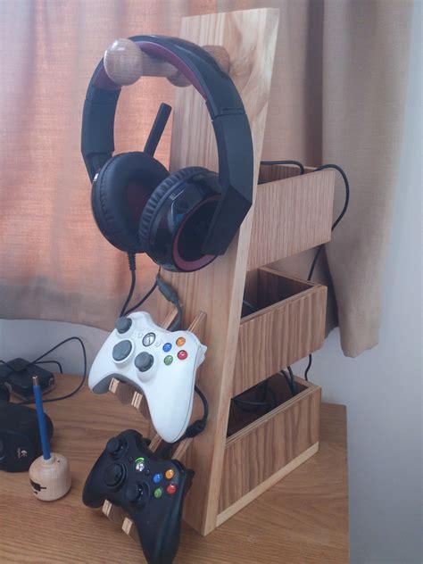 making   headset  controller rack   diy