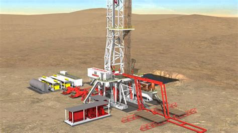 drilling rig image land rig site 1 3d animation oil 1500hp land rig youtube