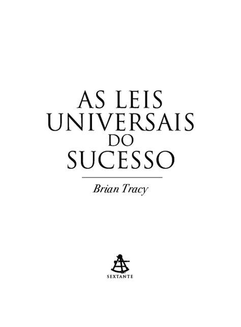 Livro PDF - As Leis Universais do Sucesso - Brian Tracy