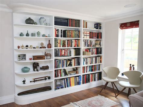 white bookshelves for built in bookcases ideas for small space