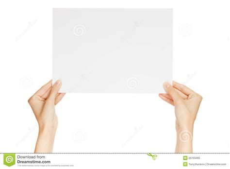 How To Make Paper Holding - holding paper isolated stock image image of