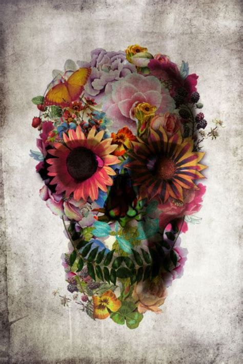 wallpaper skull flower flower skull wallpaper iphone wallpapers