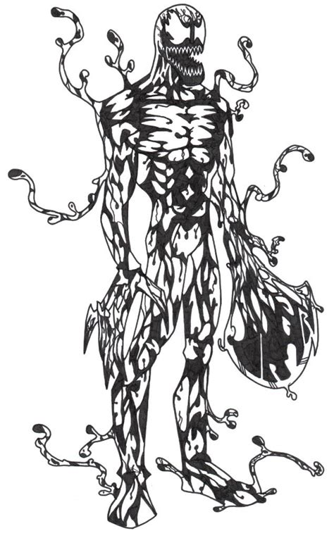carnage colouring pages