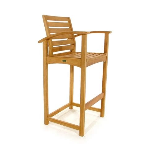 teak bar stools somerset teak outdoor bar stool and pub chair from