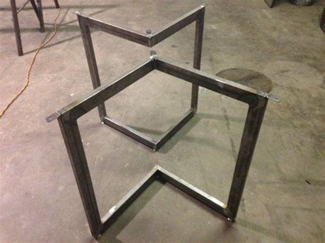 metal table l bases chevron metal dining table base legs legs metals and etsy