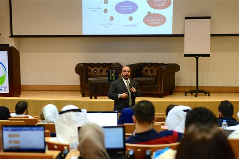 Mba In Gust by Mba Program Welcomes Dr Saad Al Barrak For Seminar On