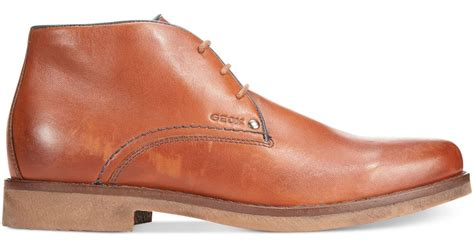 Heels Claudio 2 Brown geox claudio leather chukka boots in brown for lyst