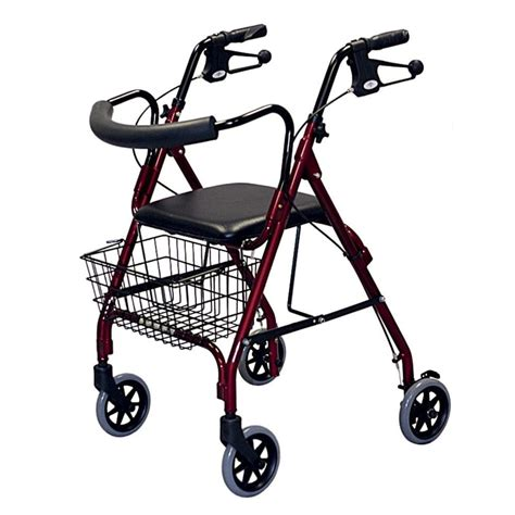rollator walker with seat and brakes medline rollator walker in blue mds86810b the home depot