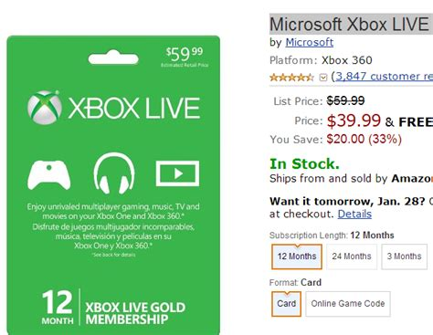 Xbox Live 12 Month Gift Card - xbox live membership card codes electrical schematic