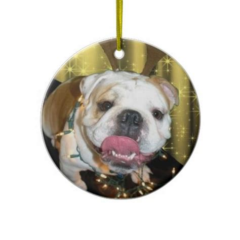 english bulldog christmas ornament