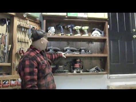 cordless tool storage cabinet workshop organization