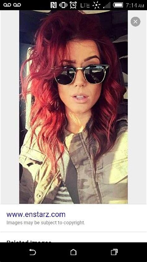 what color is chelsea houska red hair chelsea houska red 6rr redken color fusion hair