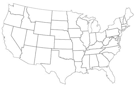 picture of a blank map of the united states blank map of the united states 171 twistedsifter