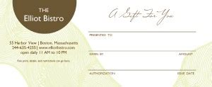 hotel gift certificate template hotel restaurant gift certificate marketing archive