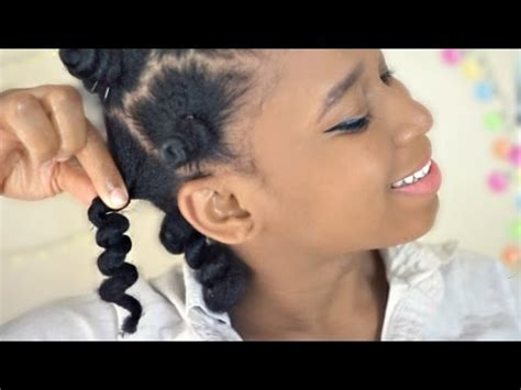 what hair should i use to do medium size box braids bantu knot out type 4 medium length natural hair youtube