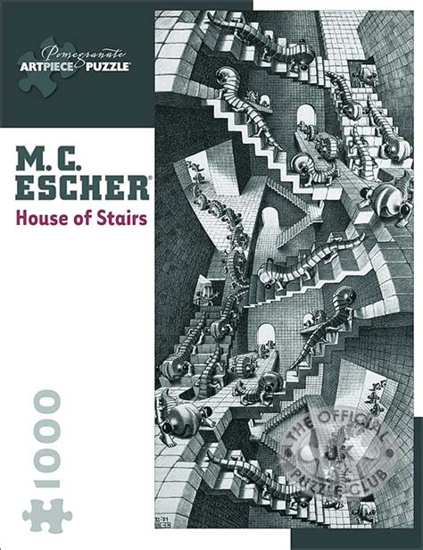House Of Stairs by Pomegranate Jigsaw Puzzles M C Escher House Of Stairs