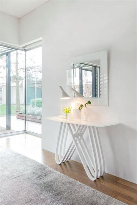consolle in vetro per ingresso consolle moderna in legno con piano in vetro per ingressi