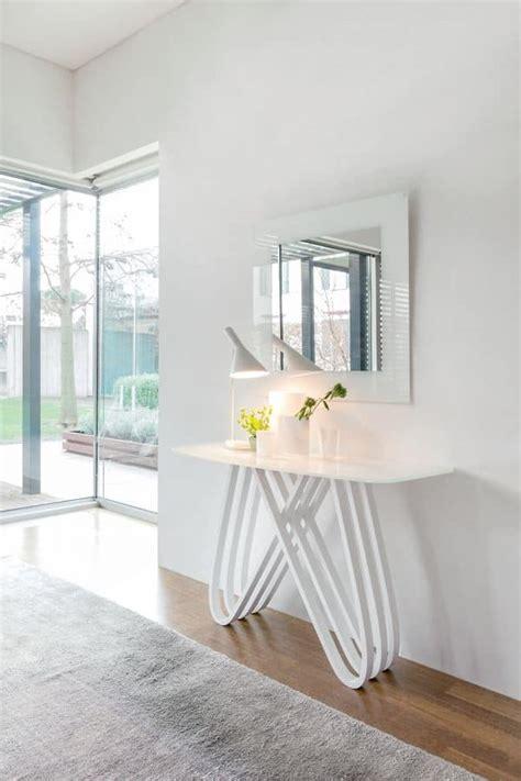 ingressi moderni in vetro consolle moderna in legno con piano in vetro per ingressi