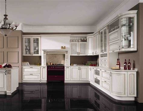 china cheap modern white solid wood kitchen cabinet unit