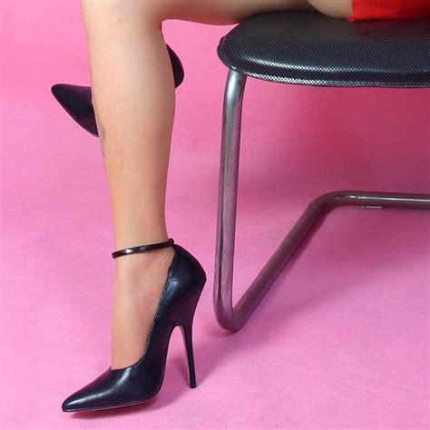 wire 14cm stiletto fashion genuine leather black