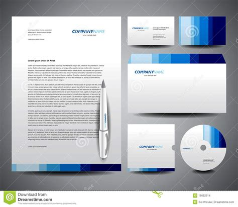 business card and stationery template business stationery template blue stock vector