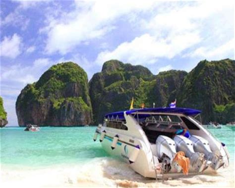 boat from phi phi to krabi phi phi island tour by speed boat from krabi thailand