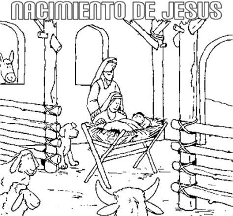 imagenes del nacimiento de jesus para pintar nacimiento de jesus en el establo para colorear dibujos de