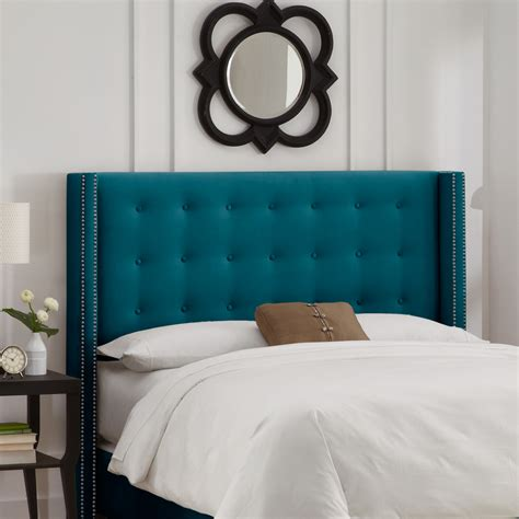 turquoise tufted headboard beds and headboards everything turquoise