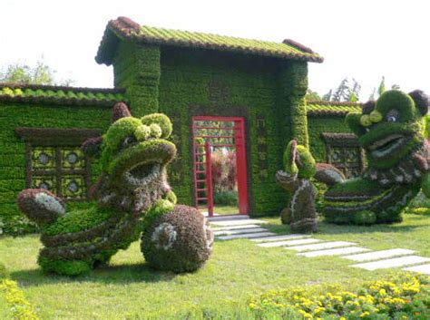 green animals topiary garden cost beijing olympic greens china s green facade of shrubbery