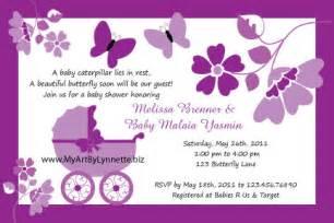 lynnetteart butterfly buggy baby shower invitation