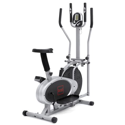 goplus 2 in 1 elliptical fan bike elliptical bike 2 in 1 cross trainer exercise fitness