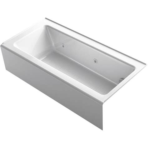 Shop Tub Shop Kohler Archer 66 In White Acrylic Alcove Whirlpool