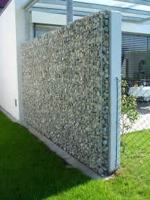 Stone work how to use gabion wall in your backyard