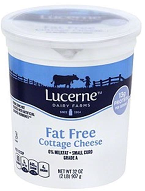 Free Cottage Cheese Nutrition by Lucerne Cottage Cheese Small Curd 0 Milkfat Free 32