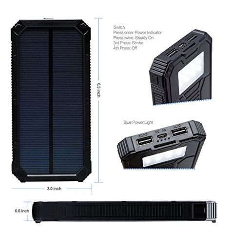 Power Bank Solar Cell 15000mah solar charger power bank costech portable 15000mah dual usb waterproof shockproof outdoor