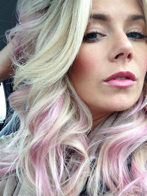 pink hair streaks pastel pink hair subtle pink hair pinterest pastel