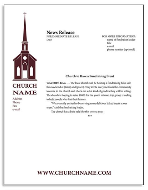 Release Letter Pledge the church fundraising guide fundraisers for churches
