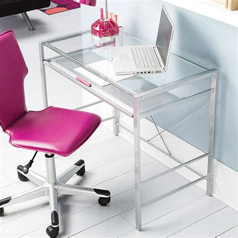 Glass And Metal Corner Computer Desk Multiple Colors Glass And Metal Corner Computer Desk Colors
