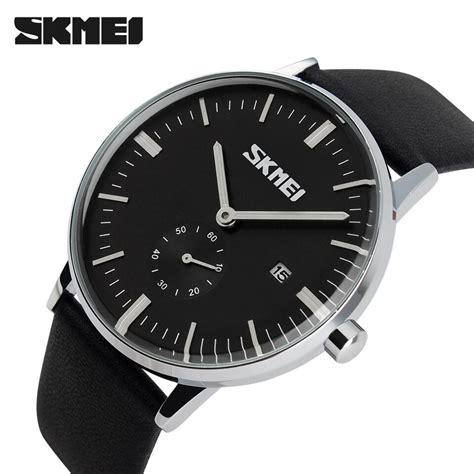 Komponen Jam Tangan Analog skmei jam tangan analog pria 9083cl black jakartanotebook