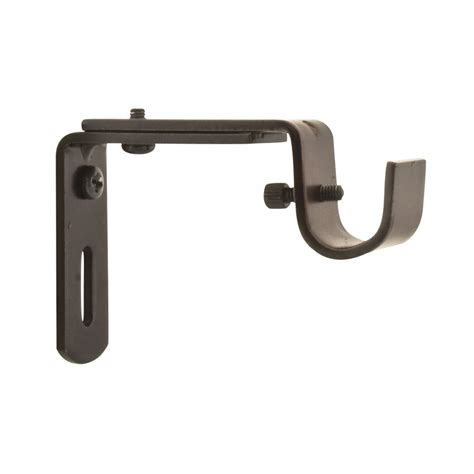 small curtain rod brackets style selections light oil rubbed bronze brackets lowe s