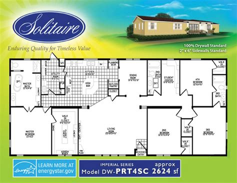 solitaire mobile homes floor plans spacious wide mobile home floorplans in new mexico and oklahoma solitaire homes