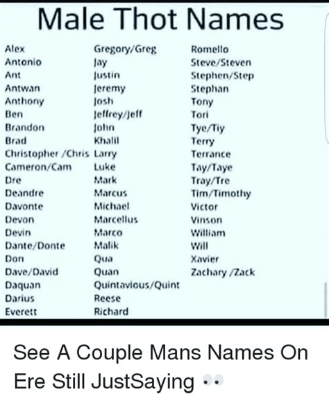 masculine names 25 best memes about thot names thot names memes