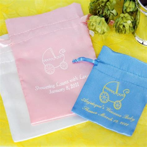 baby shower favor bags personalized color satin baby shower favor bag